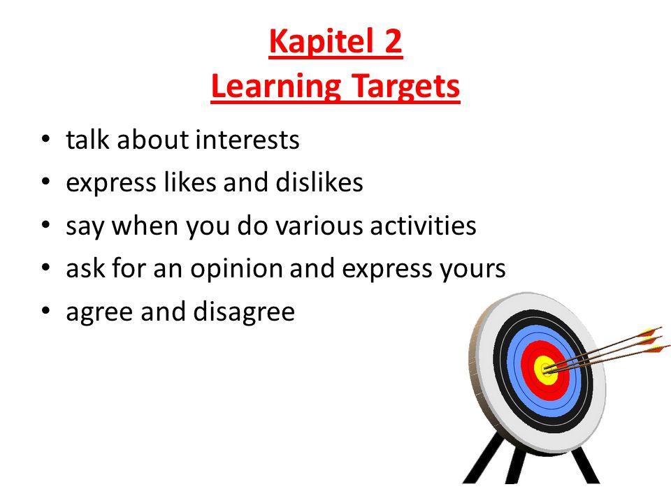 Kapitel 2 Learning Targets