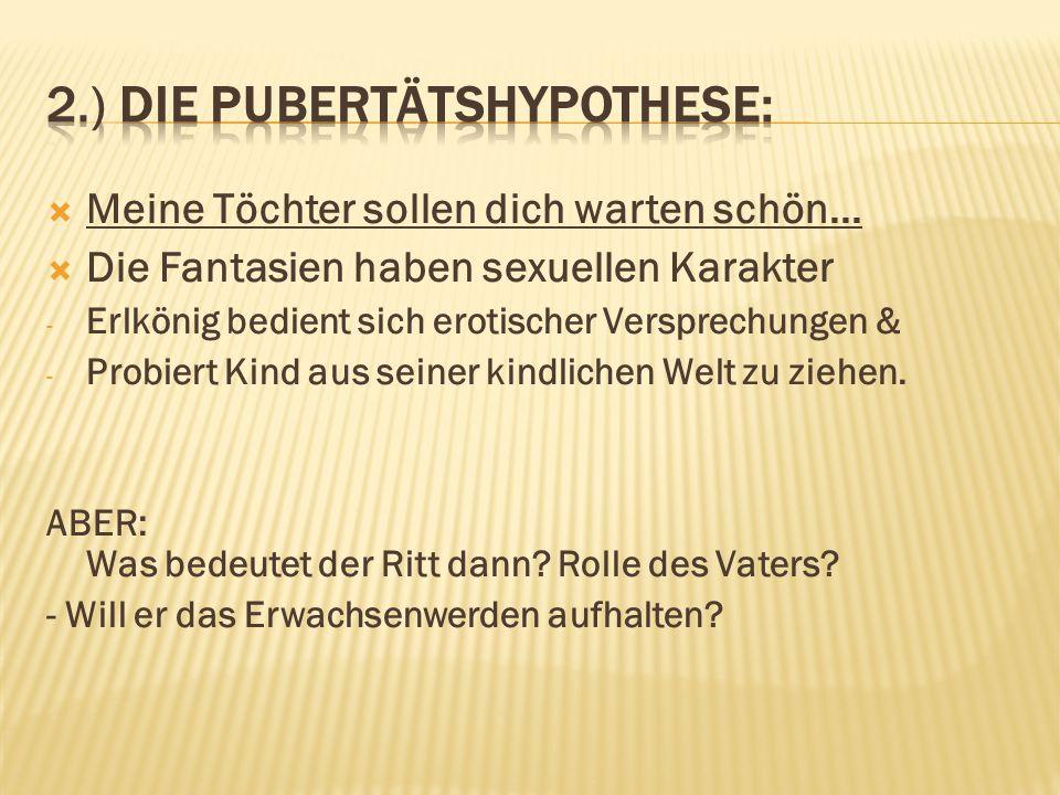 2.) Die Pubertätshypothese: