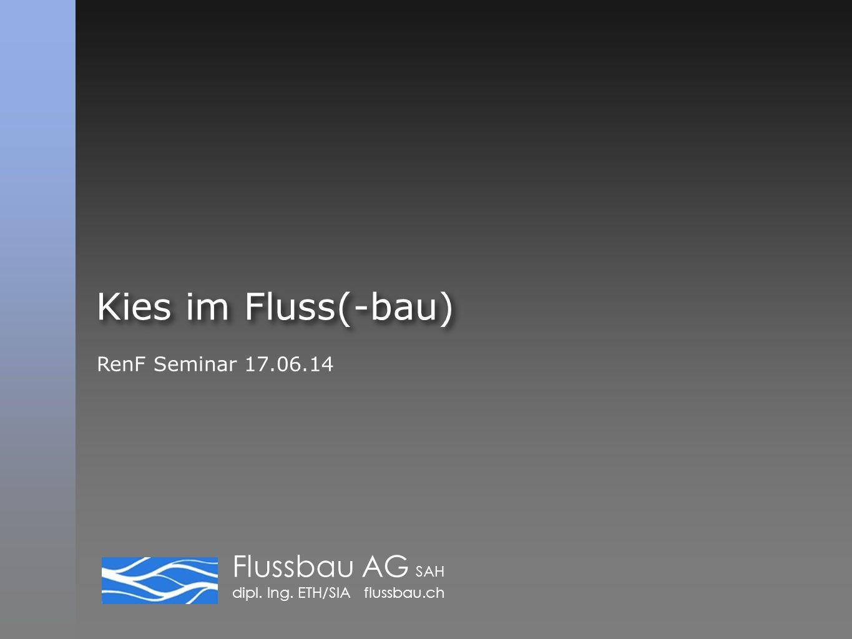 Kies im Fluss(-bau) RenF Seminar 17.06.14