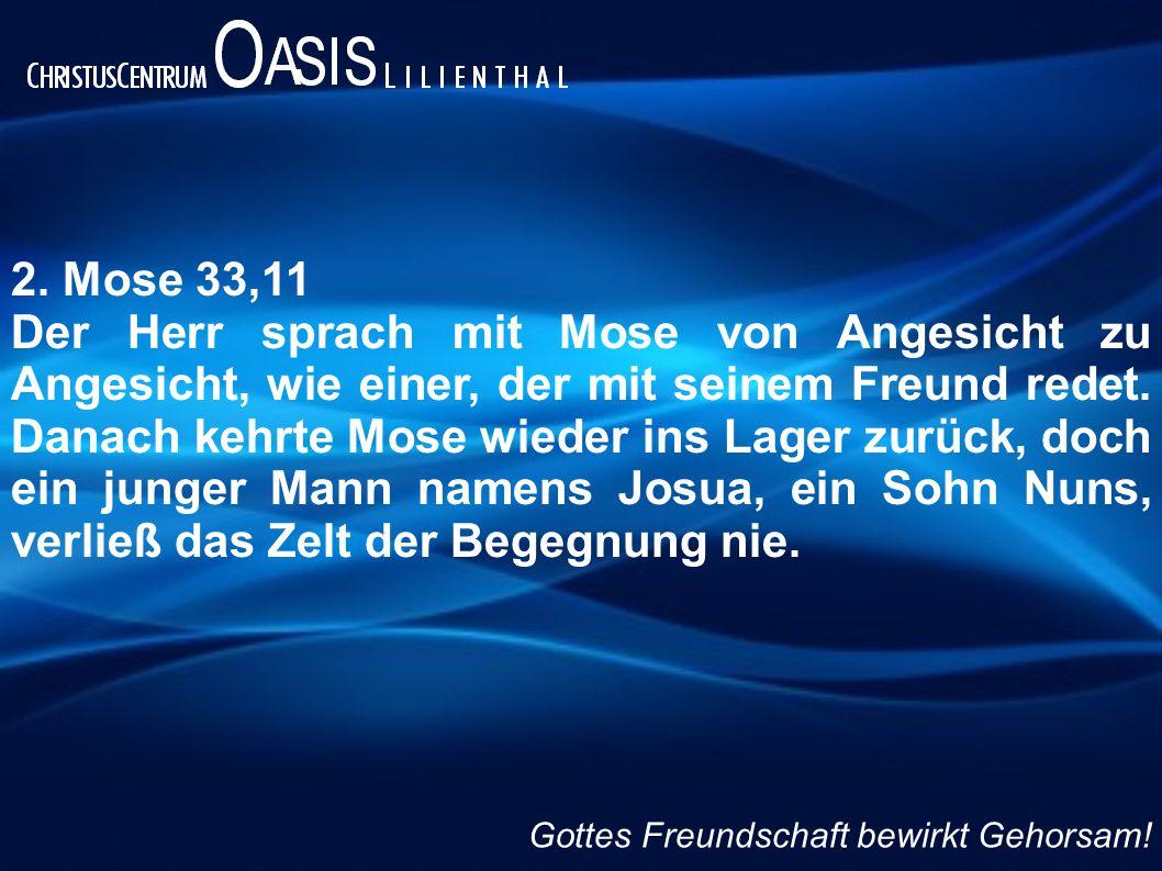 2. Mose 33,11