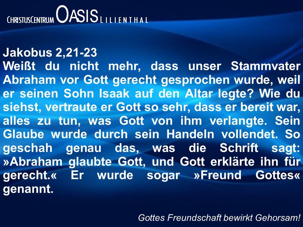 Jakobus 2,21-23