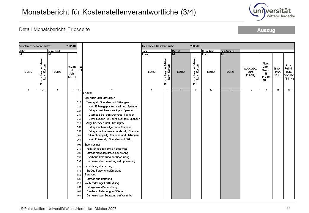 Monatsbericht für Kostenstellenverantwortliche (3/4)