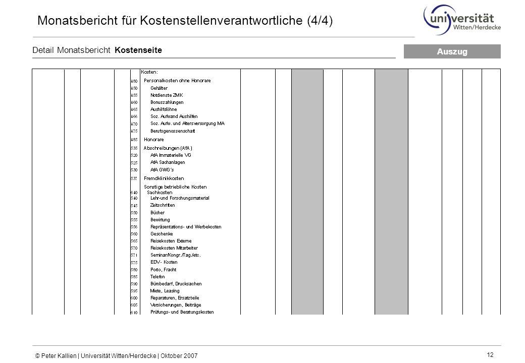 Monatsbericht für Kostenstellenverantwortliche (4/4)
