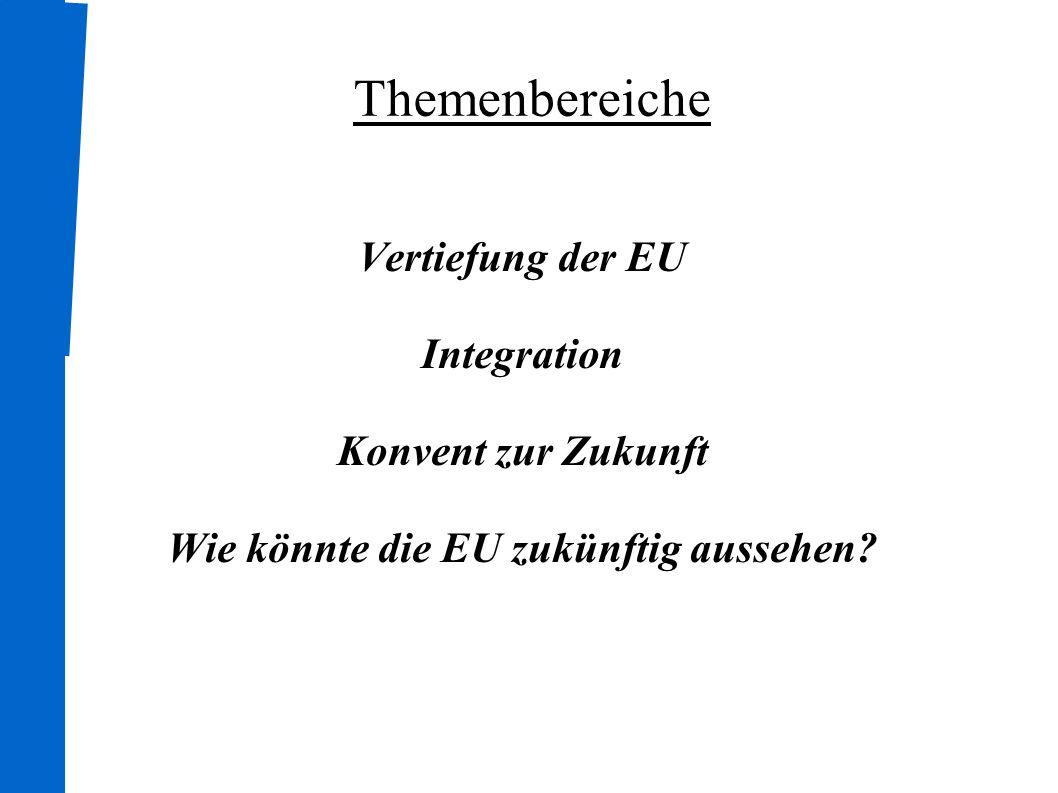 Wie könnte die EU zukünftig aussehen