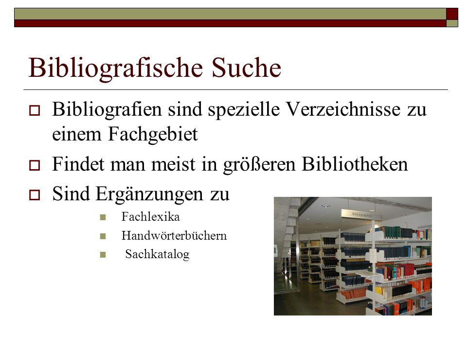 Bibliografische Suche
