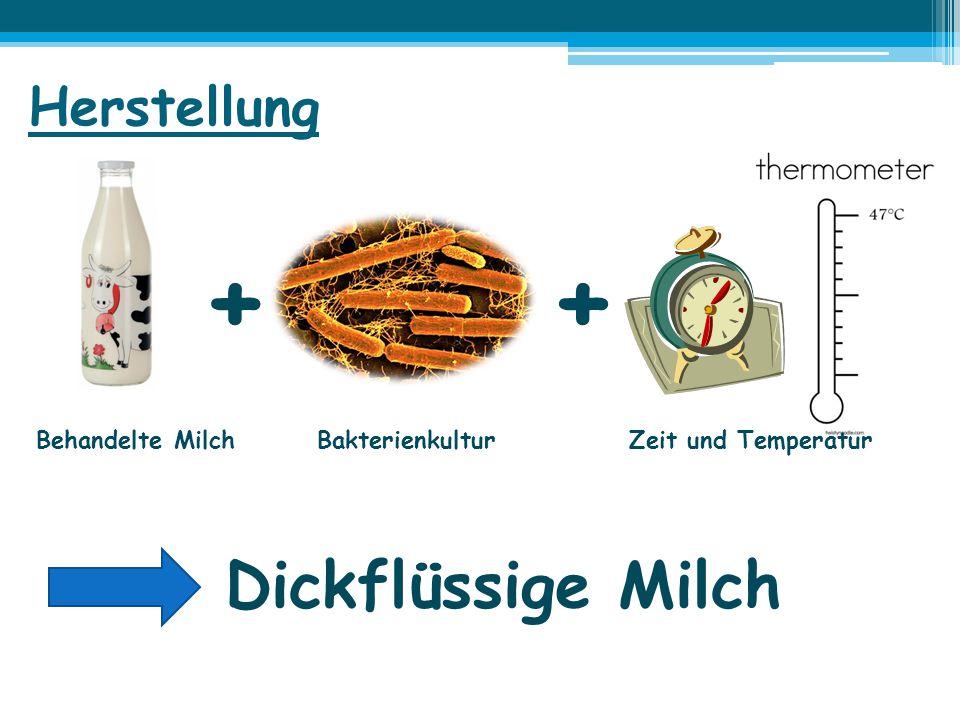 + + Dickflüssige Milch Herstellung