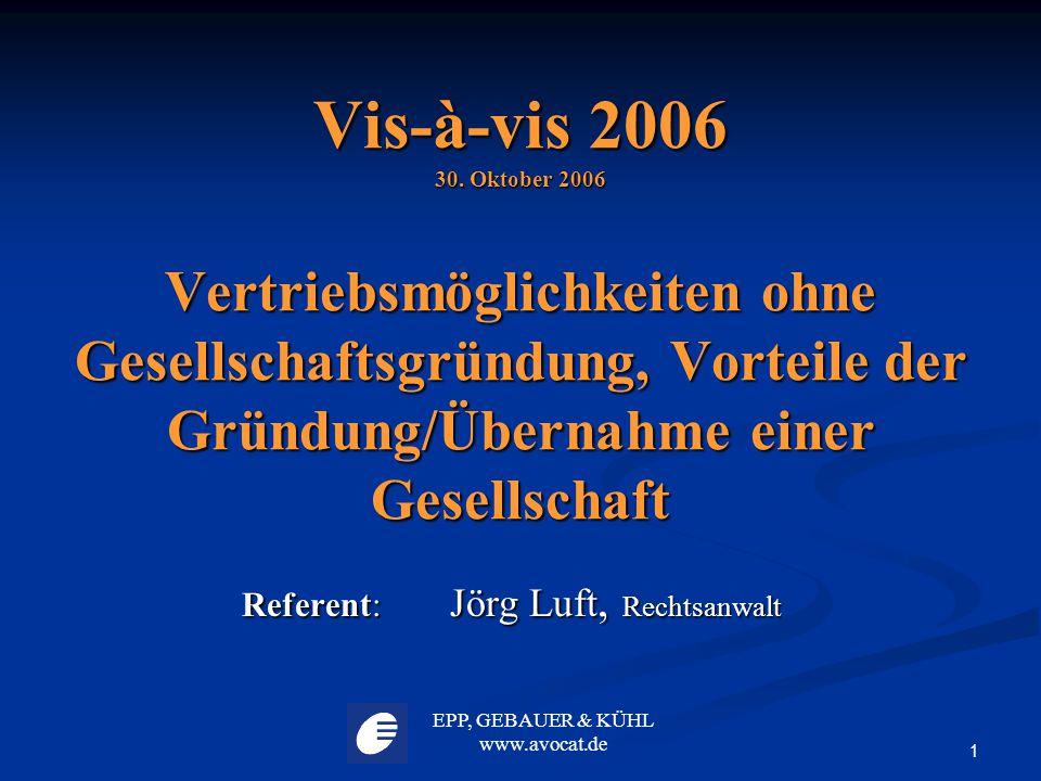Referent: Jörg Luft, Rechtsanwalt