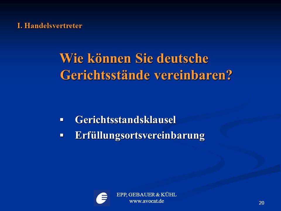 Wie können Sie deutsche Gerichtsstände vereinbaren
