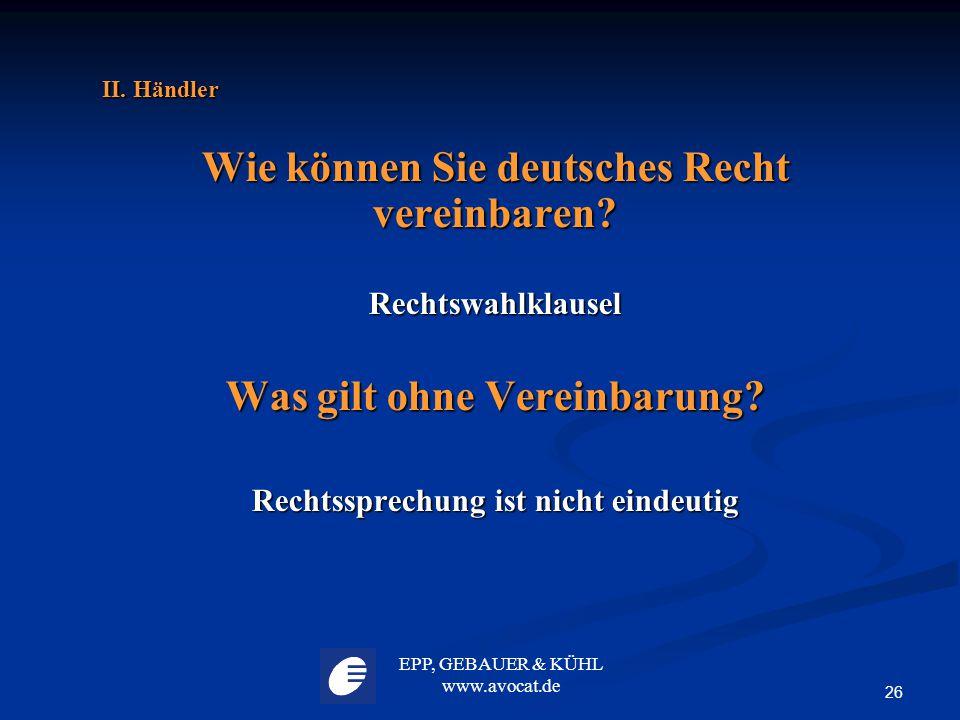 Wie können Sie deutsches Recht vereinbaren