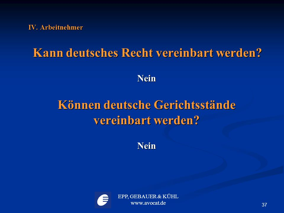 Können deutsche Gerichtsstände vereinbart werden