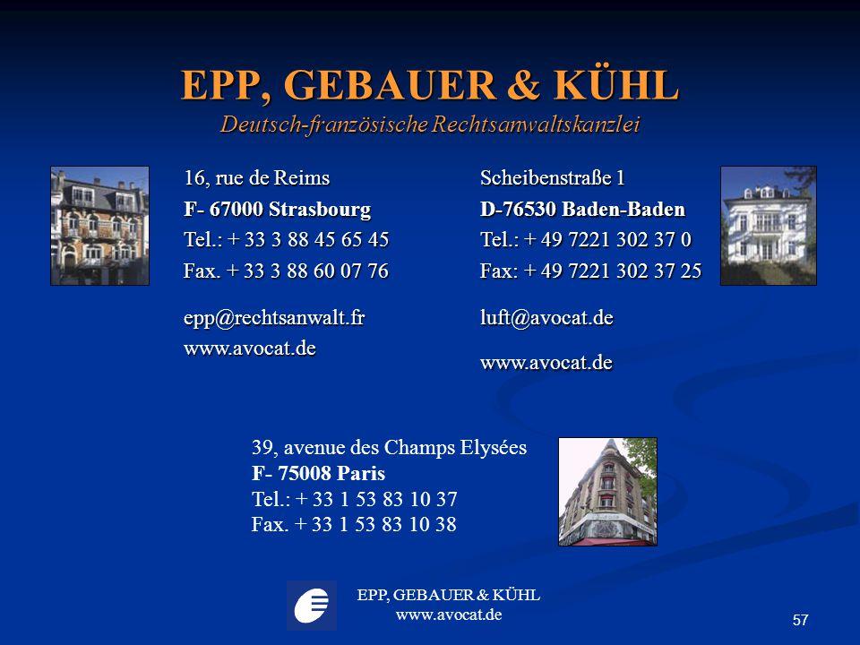 EPP, GEBAUER & KÜHL Deutsch-französische Rechtsanwaltskanzlei