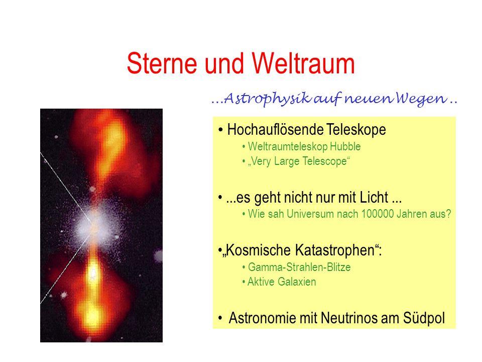 Sterne und Weltraum Hochauflösende Teleskope