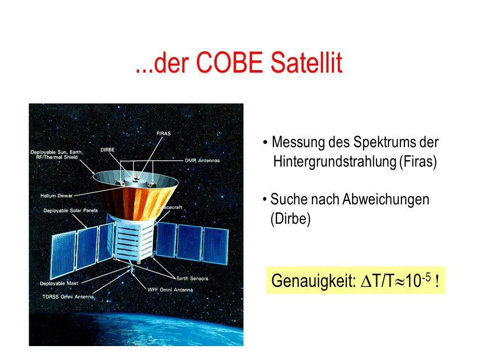 ...der COBE Satellit Genauigkeit: T/T10-5 !