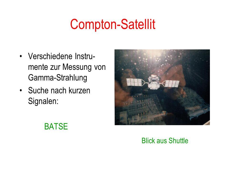 Compton-Satellit Verschiedene Instru- mente zur Messung von Gamma-Strahlung. Suche nach kurzen Signalen:
