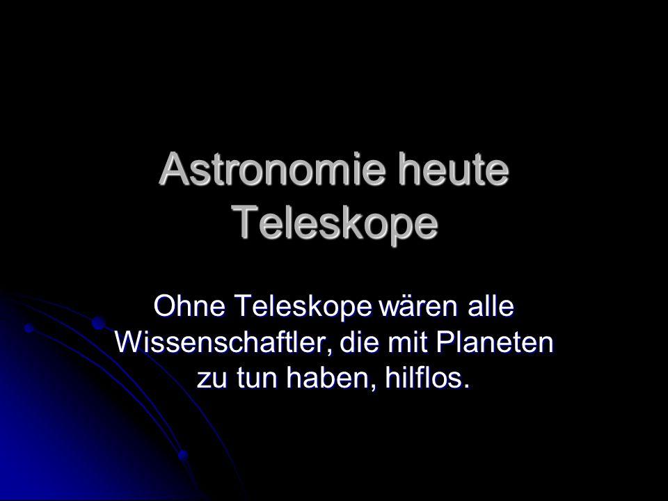 Astronomie heute Teleskope