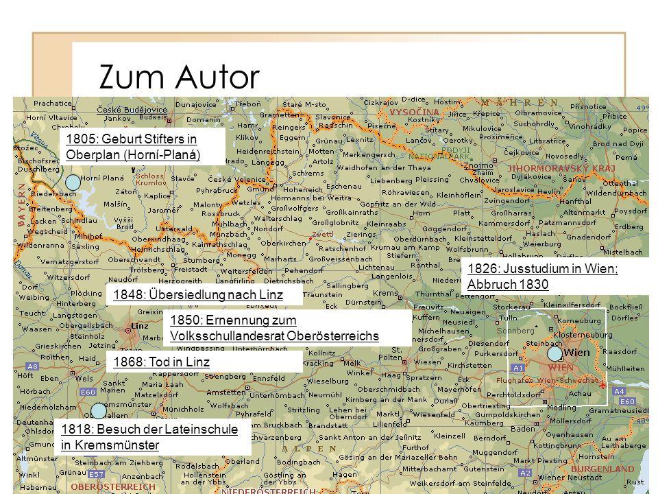 Zum Autor 1805: Geburt Stifters in Oberplan (Horní-Planá)