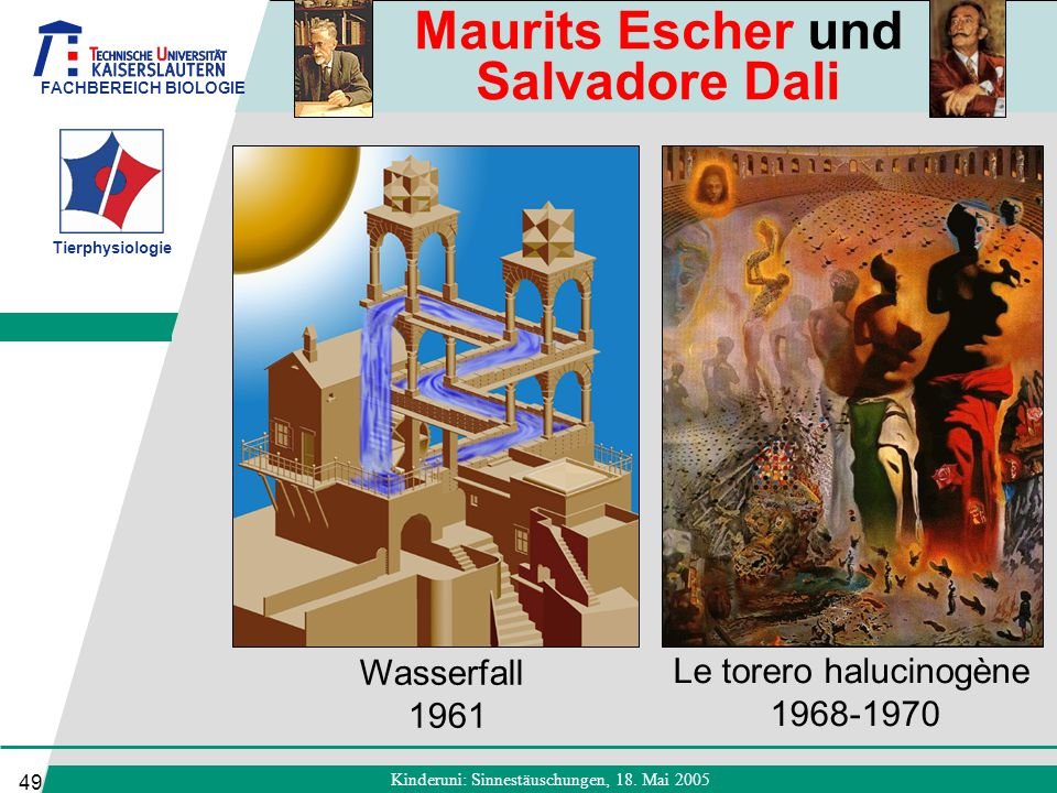 Maurits Escher und Salvadore Dali
