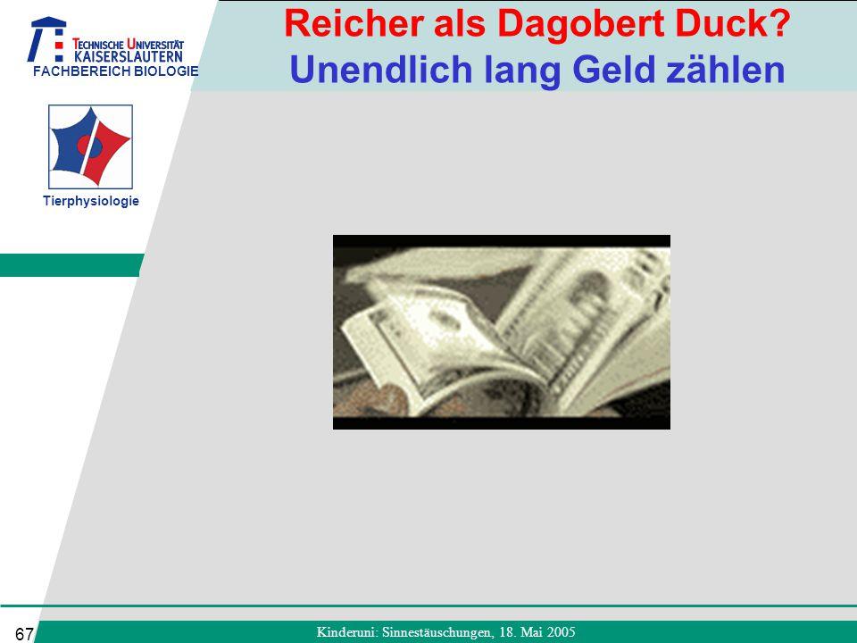 Reicher als Dagobert Duck Unendlich lang Geld zählen