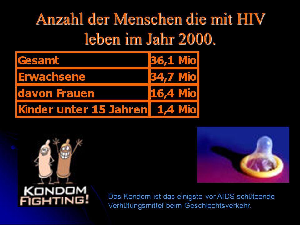 Anzahl der Menschen die mit HIV leben im Jahr 2000.