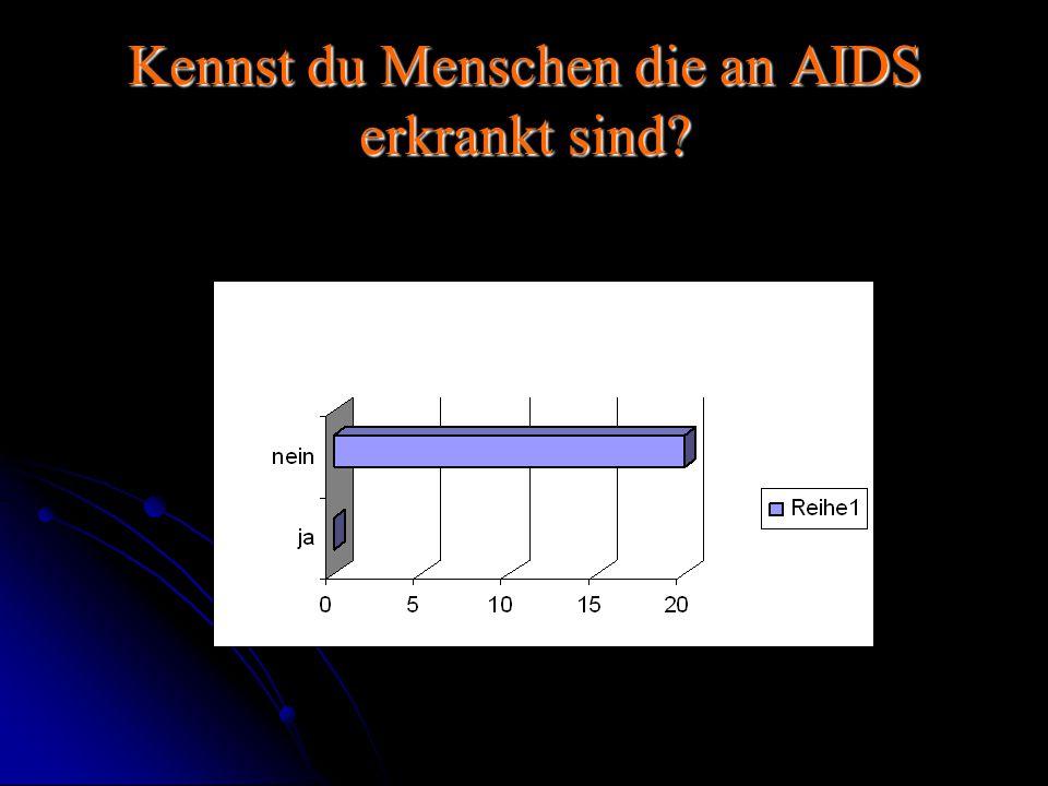 Kennst du Menschen die an AIDS erkrankt sind