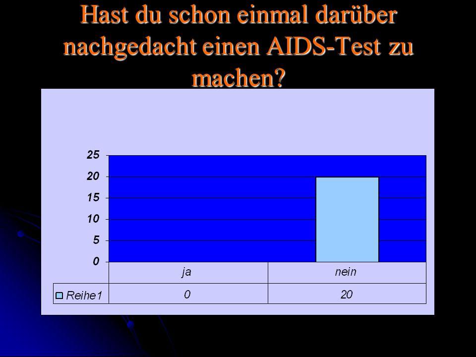 Hast du schon einmal darüber nachgedacht einen AIDS-Test zu machen