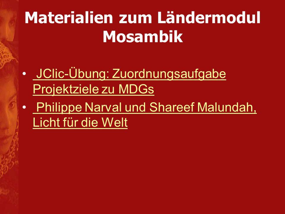 Materialien zum Ländermodul Mosambik