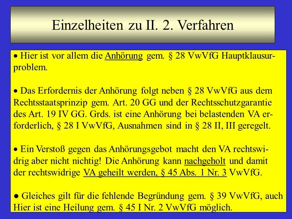 Einzelheiten zu II. 2. Verfahren
