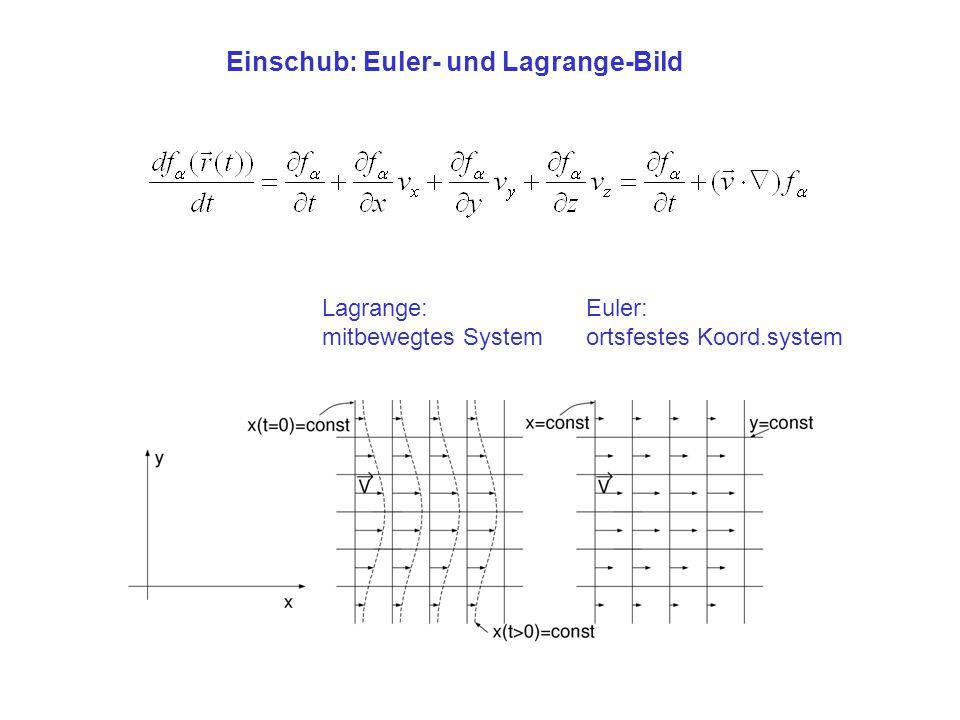 Einschub: Euler- und Lagrange-Bild