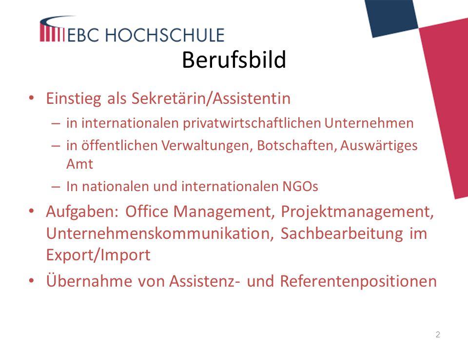 Berufsbild Einstieg als Sekretärin/Assistentin
