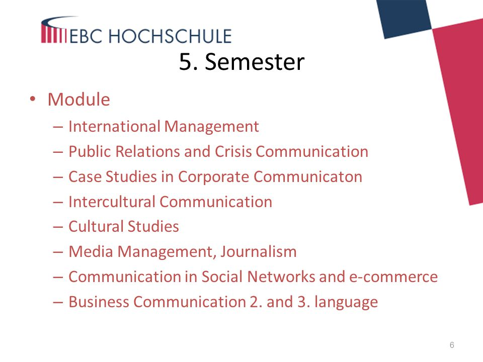 5. Semester Module International Management