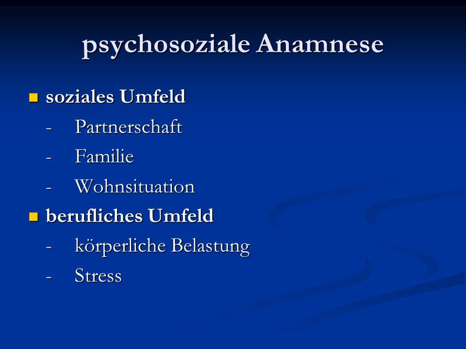 psychosoziale Anamnese
