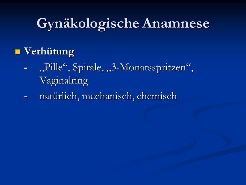 Gynäkologische Anamnese