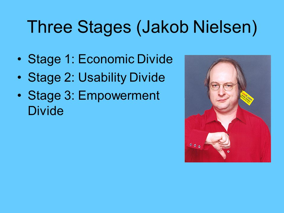 Three Stages (Jakob Nielsen)
