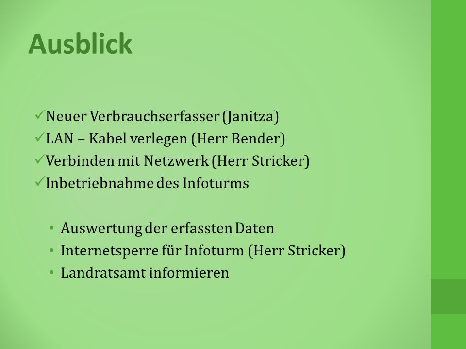 Ausblick Neuer Verbrauchserfasser (Janitza)