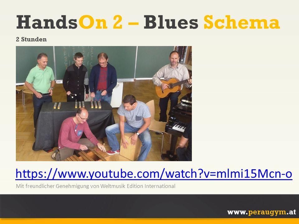 HandsOn 2 – Blues Schema https://www.youtube.com/watch v=mlmi15Mcn-o