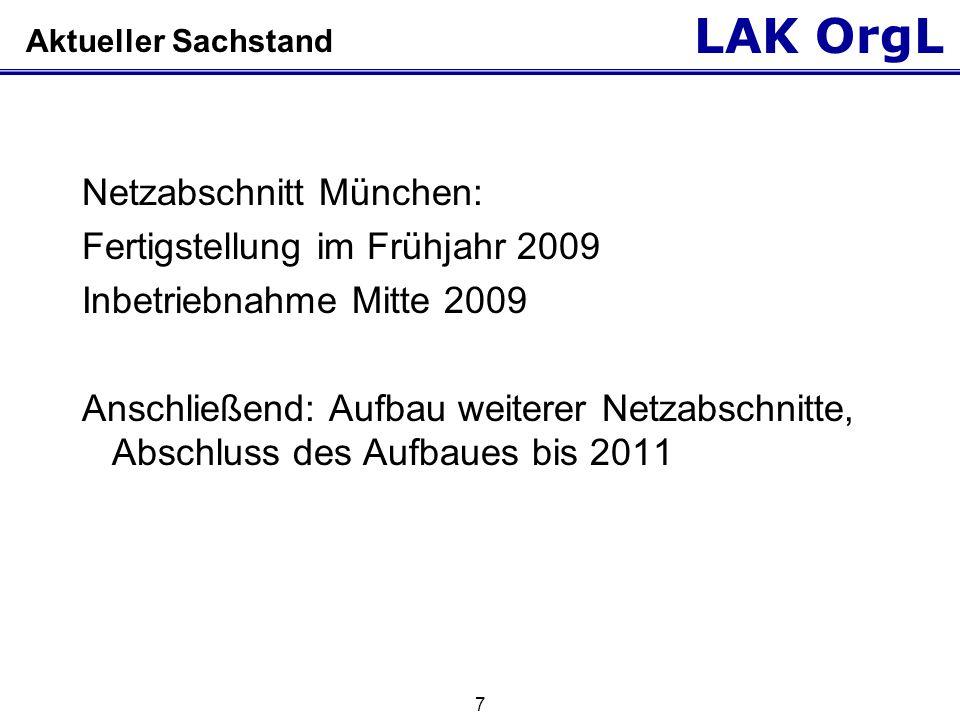Netzabschnitt München: Fertigstellung im Frühjahr 2009