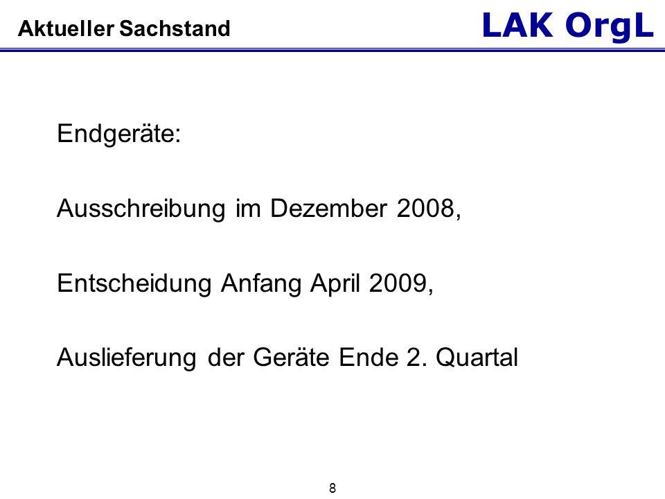 Ausschreibung im Dezember 2008, Entscheidung Anfang April 2009,