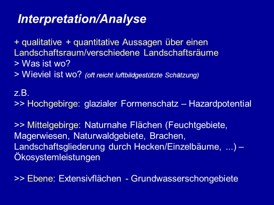 Interpretation/Analyse