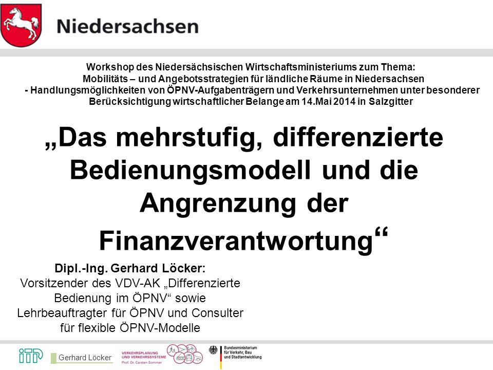 Workshop des Niedersächsischen Wirtschaftsministeriums zum Thema: