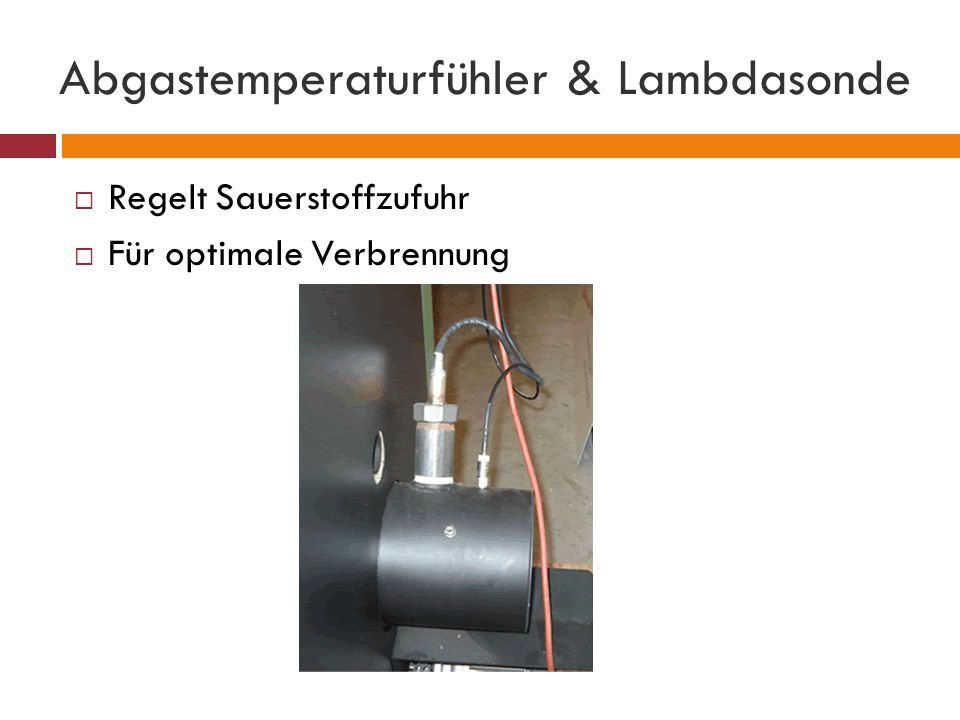 Abgastemperaturfühler & Lambdasonde