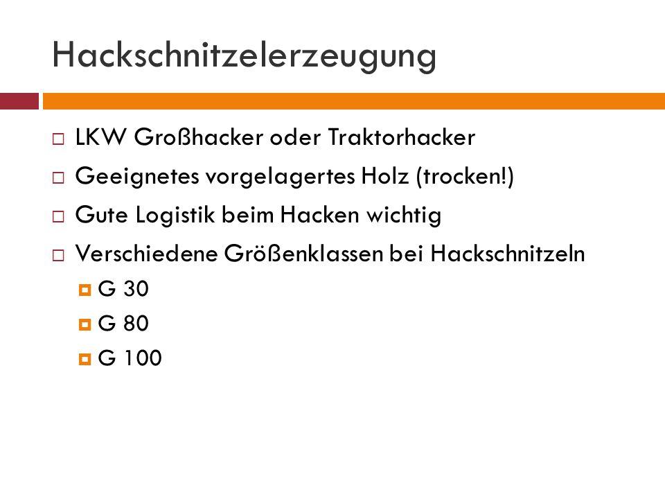 Hackschnitzelerzeugung