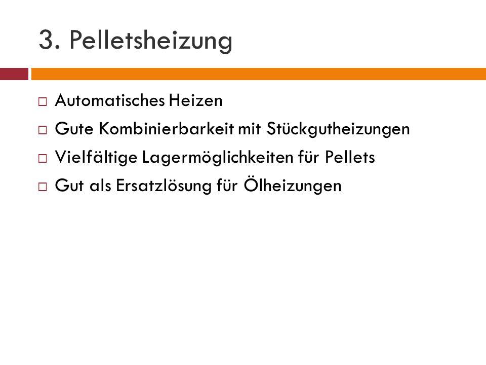 3. Pelletsheizung Automatisches Heizen