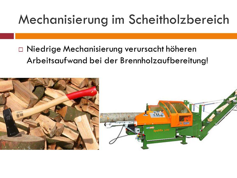 Mechanisierung im Scheitholzbereich