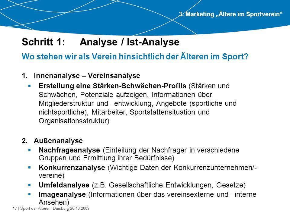 Schritt 1: Analyse / Ist-Analyse