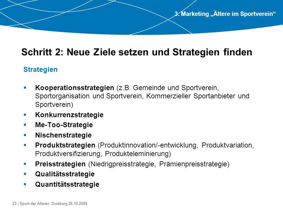 Schritt 2: Neue Ziele setzen und Strategien finden