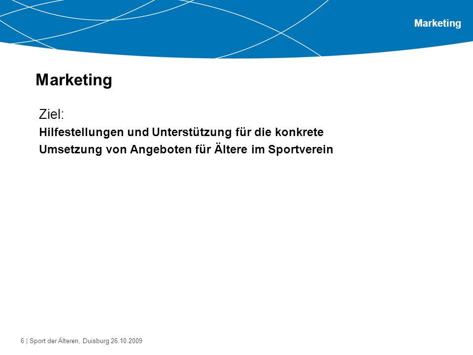 Marketing Ziel: Hilfestellungen und Unterstützung für die konkrete