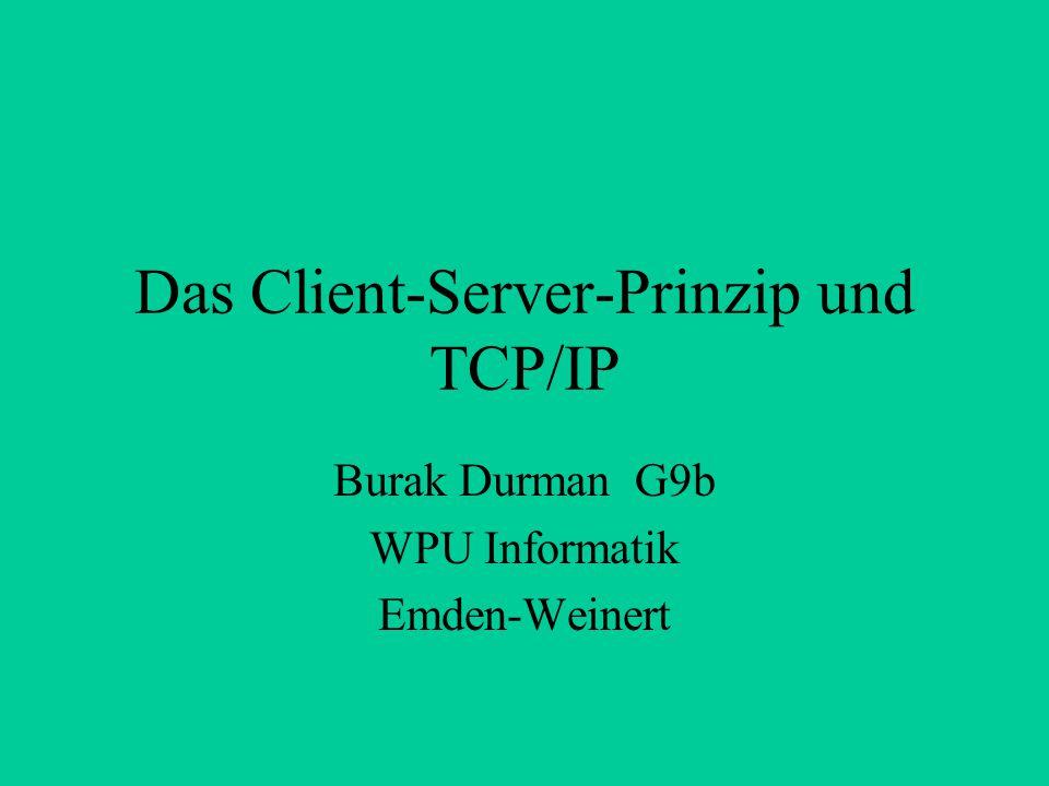 Das Client-Server-Prinzip und TCP/IP