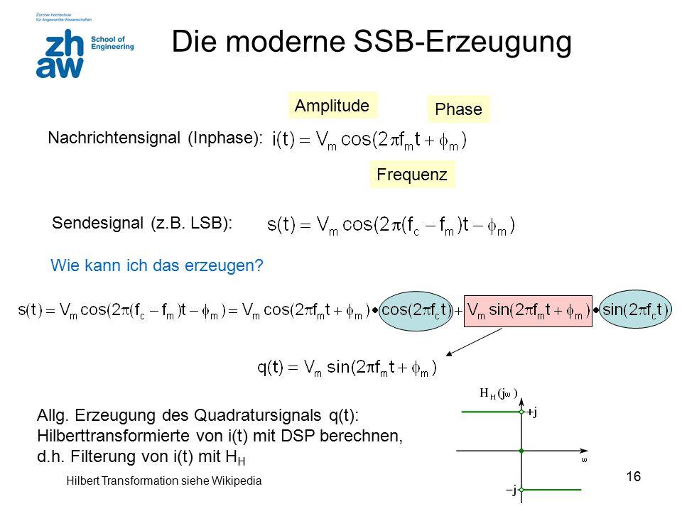 Die moderne SSB-Erzeugung