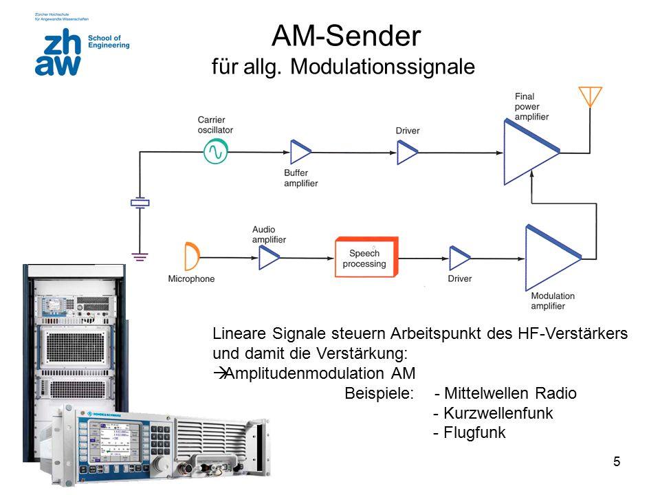 AM-Sender für allg. Modulationssignale