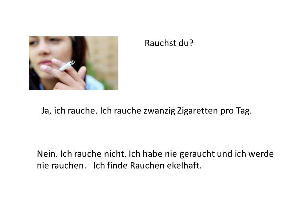 rauchen eine zigarette am tag